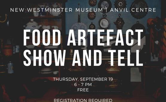 Food Artefact Show-and-Tell (All Ages)